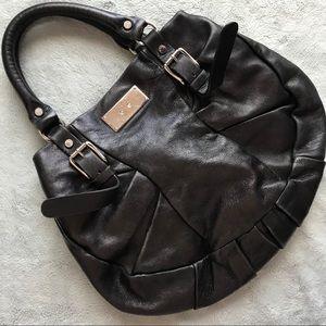 Marni Slouchy Leather Hobo Shoulder Bag Black